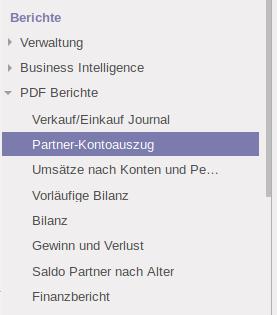 V10: Partner-Kontoauszug