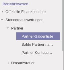 V8: Partner-Saldenliste